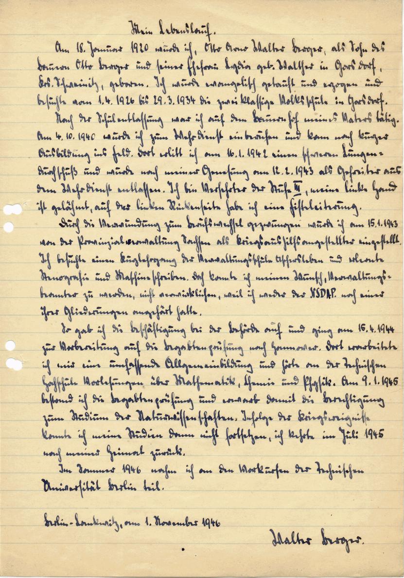 1946 11 01 handschriftlicher lebenslauf