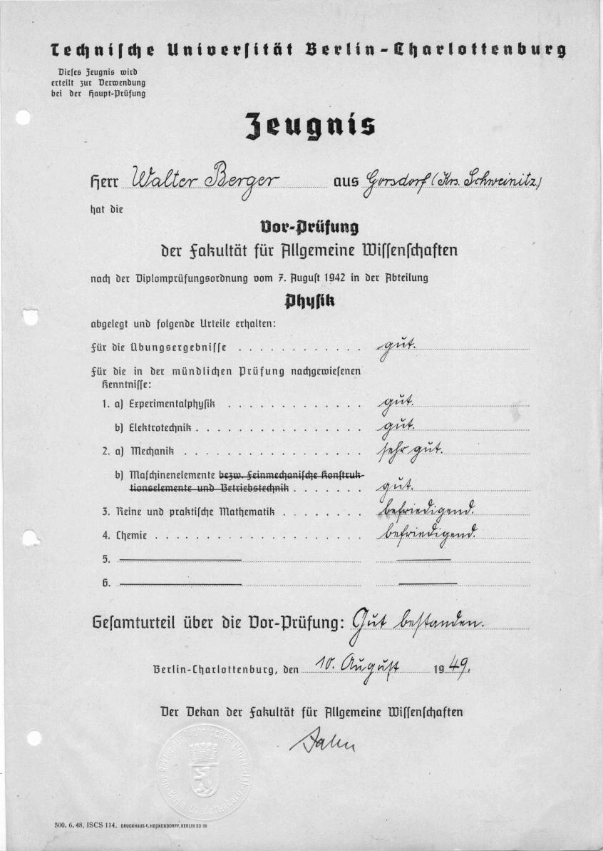 1946 11 01 handschriftlicher lebenslauf - Handschriftlicher Lebenslauf